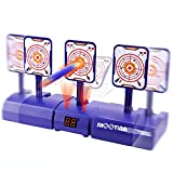 Electronic Shooting Target for Foam Gun, Digital Scoring Auto Reset Target with Refill Darts, Wrist Bands for Foam Guns Target Practice, Gift for 4 5 6 7 8 Years Old Boys Girl Kids