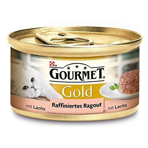 Gourmet Gold Raffiniertes Ragout Lachs 12x85g Katzenfutter