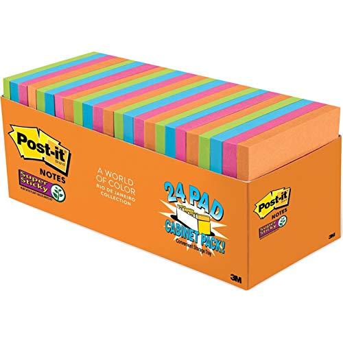Post-it Super Sticky Notes, 3x3 ...