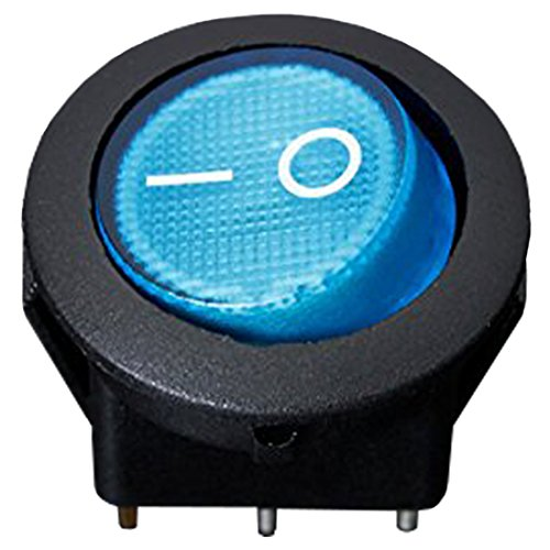 Azul Cikuso 12V 16A LED Interruptor basculante Bipolar ON//Off SPST para Auto Moto Barco