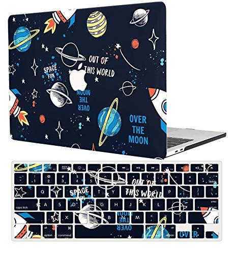 ACJYX MacBook Air 13 Pollici Custodia 2020 2019 2018 Modello di Rilascio A1932 Guscio Protettivo Plastica E Copertura Tastiera Compatibile Solo con Nuova Versione di MacBook Air 13', Cielo Stellato