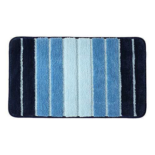 Carpet ZQE-LP Simple Striped Bedroom Door Mat Door Mat Carpet Bathroom Bathroom Non-Slip Absorbent Mat, A, 31X47In