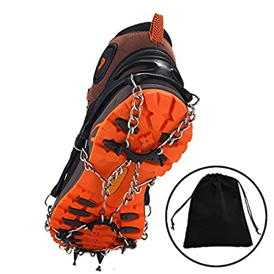 Ice Traction Micro spikes Footwear System Safe Protect for Walking, Jogging, or Hiking on Snow and Ice
