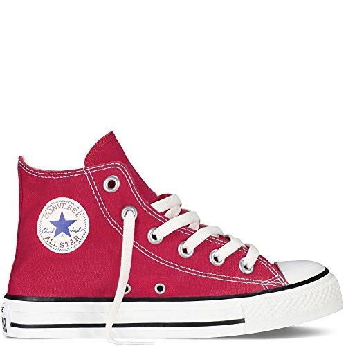 Converse Chuck Taylor all Star High, Pantofole Unisex-Bimbi, Rosso (Red 600), 18 EU