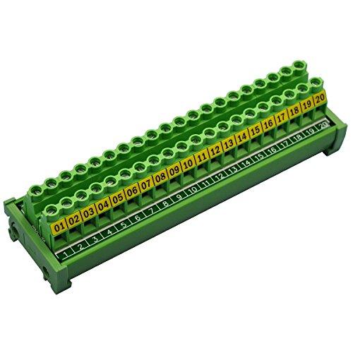 Electronics-Salon DIN-Reihenklemme, 20Positionen, 30A/ 300V, Schraubklemmleisten-Verteilermodul
