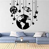 Etiqueta engomada linda de la etiqueta de Starball decoración del hogar sala de estar dormitorio decoración de la pared extraíble papel tapiz mural etiqueta de la pared A8 42x43cm