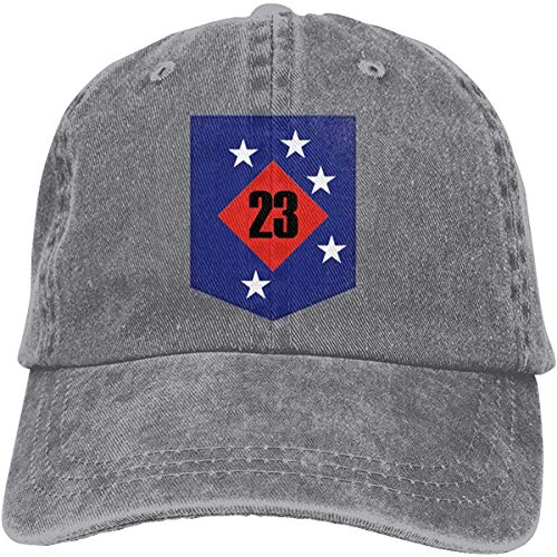 Moruolin 23rd Marine Regiment Adjustable Baseball Caps Denim Hats Cowboy Sport Outdoor