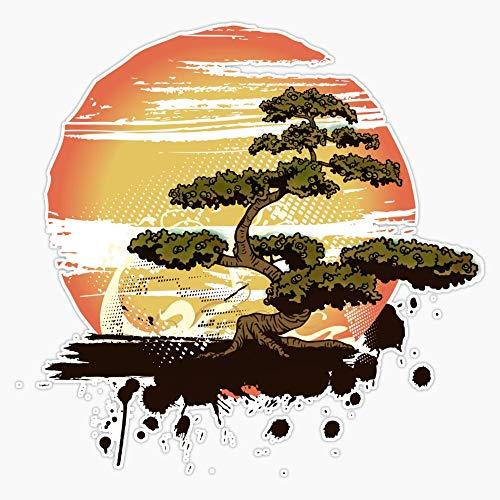 EMC Graphics Bonsai Tree Karate Dojo Vinyl Waterproof Sticker Decal Car Laptop Wall Window Bumper Sticker 5'