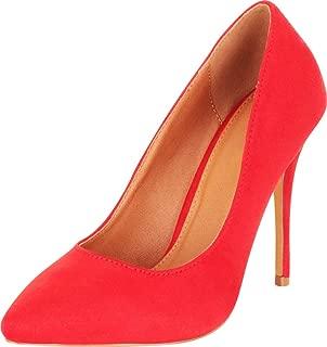 Cambridge Select Women's Classic Pointed Toe Slip-On Stiletto High Heel Pump