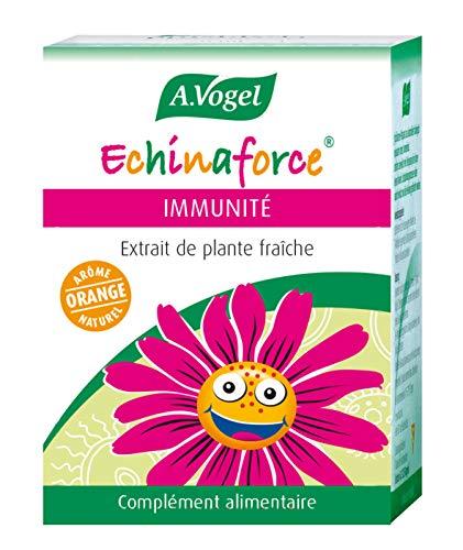 A. VOGEL – Echinaforce® Kinder Aroma Orange – Nahrungsergänzungsmittel auf Basis von Pflanzenextrakt Bio Echinacee – Formel zur Unterstützung der Immunität – 120 Tabletten – Labor Schweiz