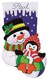 Tobin DW5236 Snowman and Penguin Stocking Felt Applique Kit, 18-Inch Long