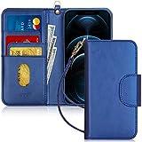 FYY Funda iPhone 12 Max, Funda iPhone 12 PRO 5G 6.1', [Función de Soporte] Flip Funda Cartera Libro de Piel PU Premium con Ranura para Tarjetas para iPhone 12 Max/12 PRO 6.1 Pulgadas 2020-Azul