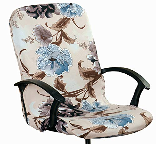 XNN Computer Office Chair Cover - Protective Stretchable Chair Covers Stretch Chair Slipcover (L)