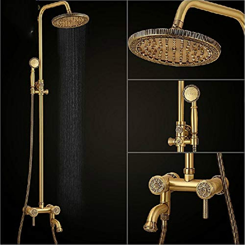 Badezimmer mit Dusche alle bronze Nehmen eine Dusche Dusche aufgeladenen Dusche Düse heben kann die Düse Bad Armatur Mix der Wasserhahn