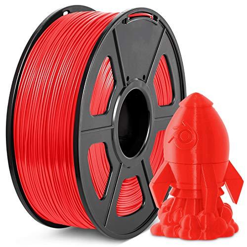 Filamento PLA+ 1.75mm, JAYO Stampante 3D PLA Plus Filamento 1 KG per Bobina, Precisione +/- 0,02 mm, PLA+ Rosso