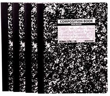Mintra Office Composition Notebooks Black Ru Popular product Comp - El Paso Mall Marble Wide
