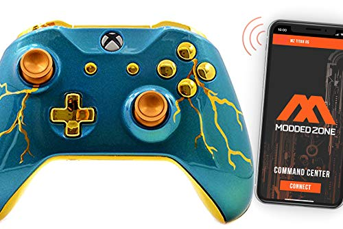 Blue Thunder Smart Rapid Fire Custom Modded Controller for Xbox One S Mods FPS Games and More. Control and Simply Adjust Your mods via Your Phone!
