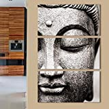 Youna Budista 3 Pintura Decorativa Cabeza de Buda HD