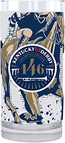 Kentucky Derby 146th Mint Julep Glass, Official Souvenir Glassware, Year 2020, 2 pack