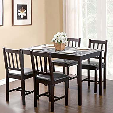 Merax. 5-piece Kitchen Dining Set Wood Dining Table with 4 Dining Chairs