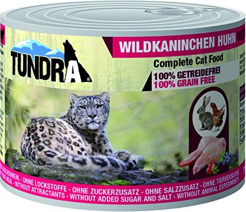Tundra Katzenfutter Wildkaninchen & Huhn, Nassfutter - Getreidefrei (6 x 200 g)