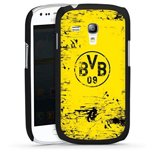 DeinDesign Hard Case kompatibel mit Samsung Galaxy S3 Mini Schutzhülle schwarz Smartphone Backcover Borussia Dortmund Offizielles Lizenzprodukt BVB