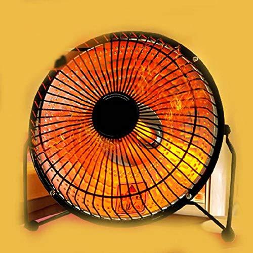 Promoción de calentadores eléctricos mudo Oficina de estudiantes Hogar calentador de escritorio Mini tubo de cuarzo tipo pequeño calentador solar estufa ventilador eléctrico @ 4 pulgadas negro