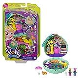 Polly Pocket Coffret Univers Café du Hérisson, mini-figurines Polly, une amie, chat et lapin, surprises incluses, jouet pour enfant, GTN15