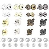 HO2NLE 40 Stück Magnetknöpfe für Taschen 14mm und 18mm Magnetverschluss Taschen Magnetische Knöpfe für Nähen Jacken Handtaschen Geldtasche Kleidung Mäntel Windbreaker Silber und Bronze