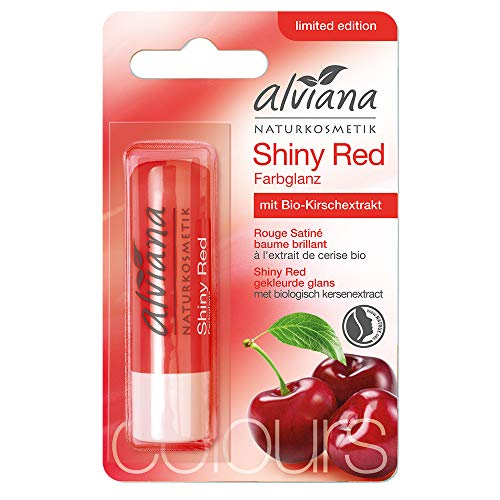 Alviana Lippenpflegestift Shiny Red