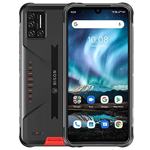 UMIDIGI Bison,Smartphone Certifié IP68 & IP69K,étanche et antipoussière,6.3' FHD avec Batterie 5000mAh et Quad caméra 48 MP,Version Mondiale 4G Volte(8+128 GB)