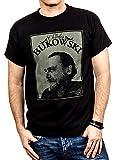 MAKAYA Camisetas con Frases Originales - Chalres Bukowski - Negra XXL