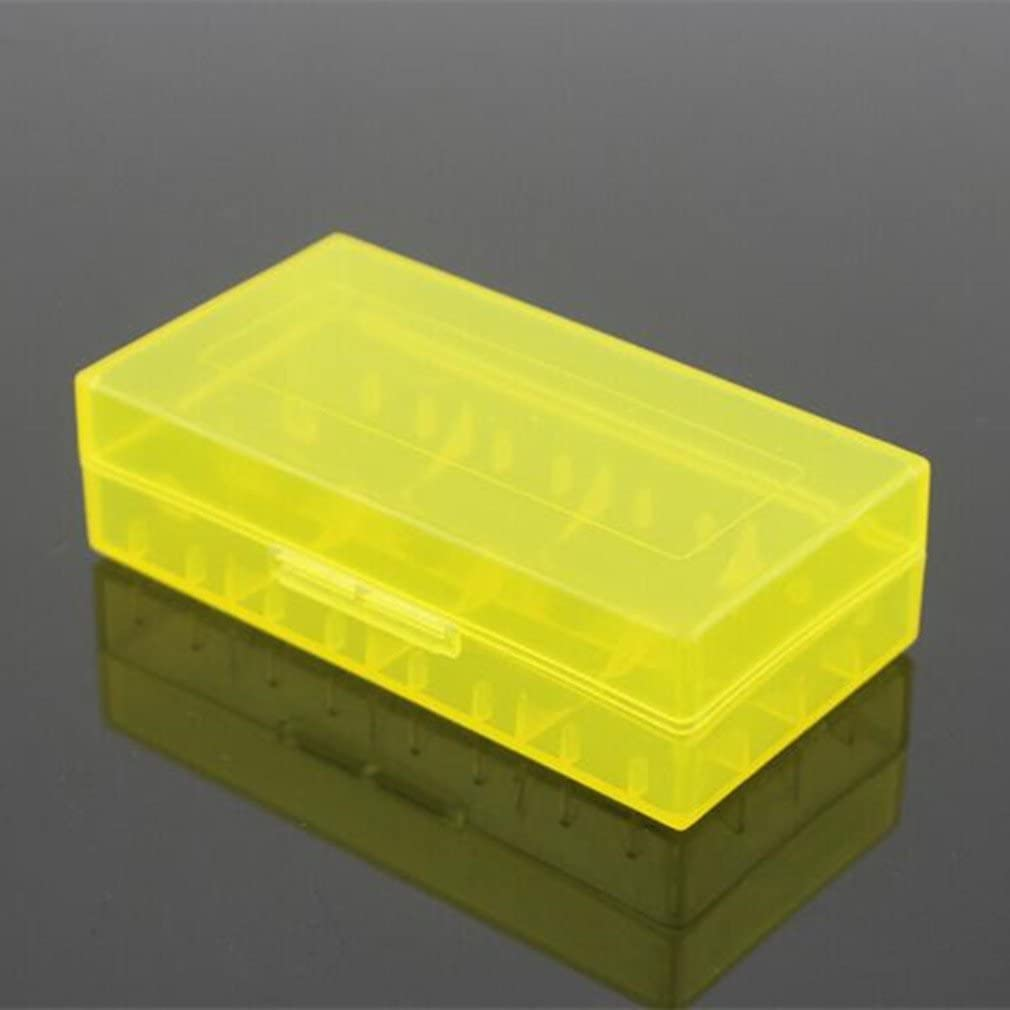1 x Battery Storage Case Holder Battery Organizer for 18650 or CR123A Battery Yellow for Collecting Batteries by TheBigThumb