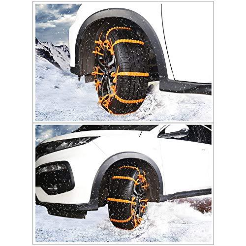 WY-YAN Cadenas 10pcs de nylon anti de la resbalón de neumáticos de nieve Campo de nieve de esquí de fondo de emergencia contra la resbalón de la correa for los coches antideslizante Cadena