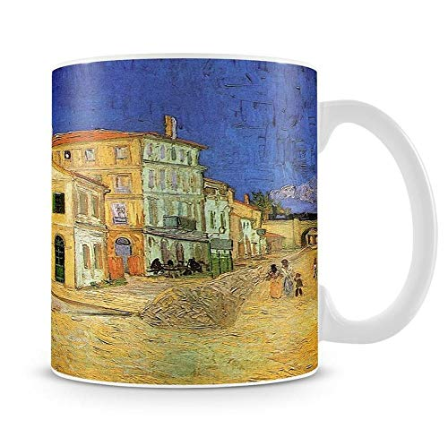 Vincent's House in Arles The Yellow House by Van Gogh - Taza, diseño de casa amarilla