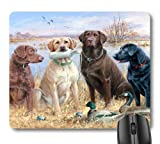 7AN.M Retriever Hunting Dogs and Wild Duck Painting Print Art Mouse Pad