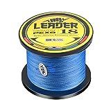 YFCH 1000m 8 Hebras Línea de Pesca Trenzada PE Súper Fuerte Sedal Trenzado Resistente a la Abrasión, Azul Oscuro, 2.5# / 0.25mm / 16.1kg