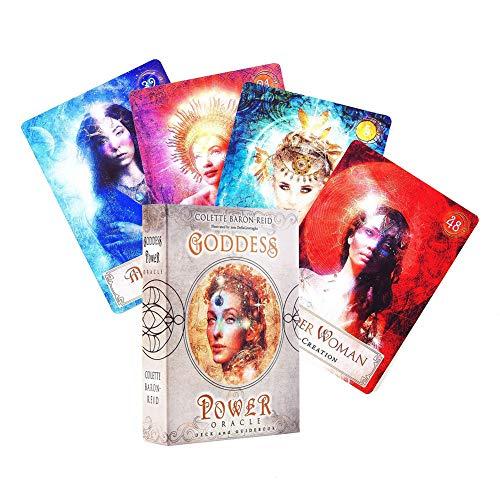 Goddess Power Oracle Tarot Cards Tarjeta de Juego de Mesa Versión Completa en inglés Tarot Deck para Juego de Fiesta Familiar