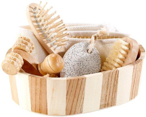 newgen medicals Badebürste: 6-teiliges Badeset aus Naturmaterialien (Wellness Badeset)