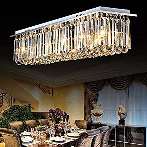 HONGLONG Moderna Rettangolare Chiaro Lampadario Illuminazione di Goccia della Pioggia di Soffitto di Cristallo Illumina Incasso L100 X L25 X H22 Cm