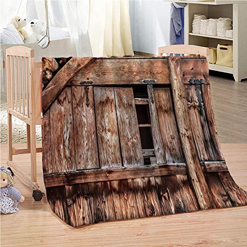 QMGLBG Manta de Franela de impresión 3D Cerca de Madera Manta súper Suave Dormitorio Sala de Estar Manta de Pared decoración del hogar Cama sofá suministros-180 cm * 240 cm