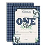 Little Stinker Cute Skunk-Themed First Birthday Party Invitations for Boys, 20 5'x7' Fill In Cards with Twenty White Envelopes by AmandaCreation