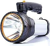 Lampe Torche LED 7000 Lumens Rechargeable Étanche IPX4 Lampe Camping Portable 6000mAH Lampe Camping Projecteur Portable (Silver)