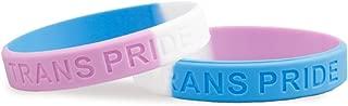 50 Pack Transgender Pride Silicone Bracelets - Support LGBTQ Cause (50 Bracelets in a Bag)