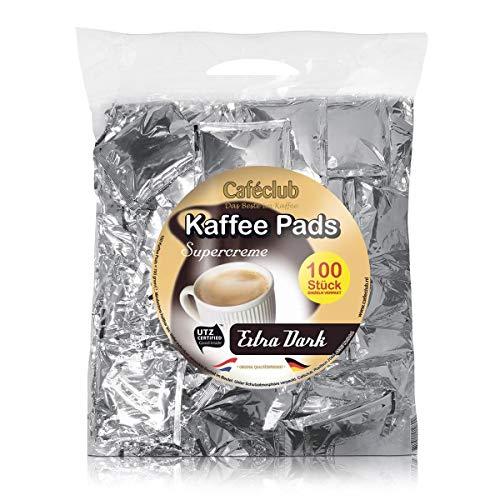 Caféclub Kaffeepads Supercreme Extra Dark 100 St. im Megabeutel