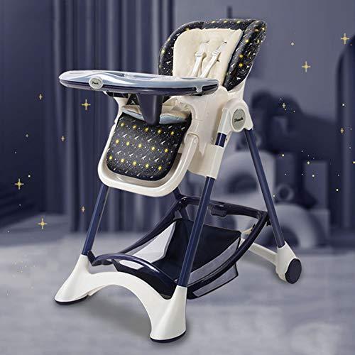Antideslizante bebé silla de comedor, multifuncional plegable portable simple de niños Mesa de comedor y sillas ajustables a salvo y seguro anti-Down Material de Protección Ambiental PP,Natural