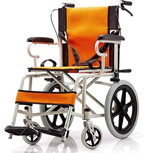 Y-L Oudere rolstoel, lichtgewicht en gebruiksvriendelijke rolstoelarmen en verhoogde beensteunen voor extra comfort, A