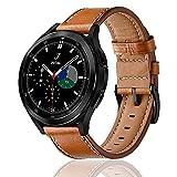Rosok Correas Cuero de Genuino Compatible con Samsung Galaxy Watch 4 / 4 Classic (20mm), Hebilla de Metal de Acero Inoxidable,...