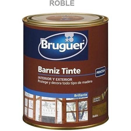 BRUGUER Barniz Tinte BTE.BRUGUER Roble 250 ML, Negro: Amazon ...