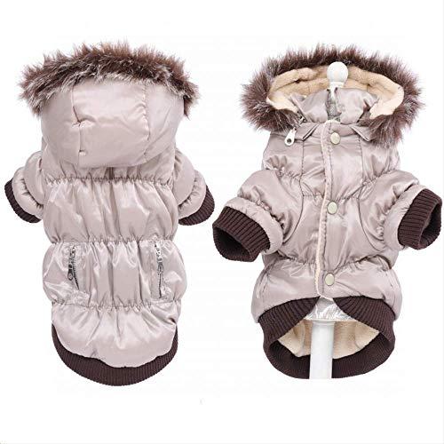 XYBB Hond Kleding Winter Honden Kleding Warm Fleece Ski Parka Hond Jassen Jas Kleding voor Honden Puppy Teddy Chihuahua XS S M L Xl 2XL, XL, Beige